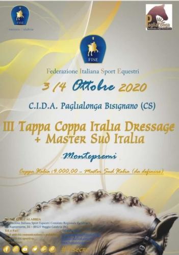 Master SUD Italia +3°Tappa Coppa Italia  Dressage