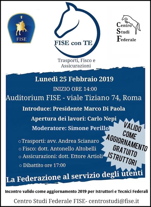 Locandina FISE con TE Roma