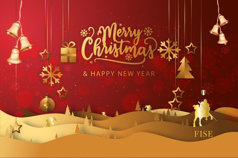 Cartoline Buon Natale E Felice Anno Nuovo.Federazione Italiana Sport Equestri La Fise Augura Buon Natale E Felice Anno Nuovo
