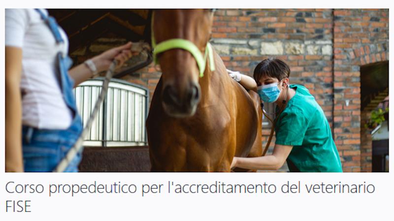 Federazione Italiana Sport Equestri Online Il Corso Fise Fnovi Propedeutico Per L Accreditamento Del Veterinario Fise