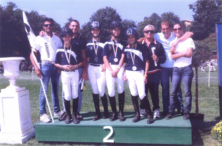 Squadra Sardegna Salto Ostacoli Medaglia d'Argento Ponyadi 2012